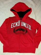 Nwt boys 4 ecko red sherpa lined zip front hoodie