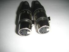 2x 5-Pin XLR Female Plug for ADCOM DMX Car Audio 1017 ling