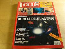 RIVISTA FOCUS N° 76 1999 ALMANACCO DELLA SCENZA UNIVERSO ACQUARIO