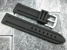 22mm Soft Rubber Diver Strap Black Watch Band NAVITIMER 22 tag