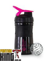BLENDER BOTTLE SPORT MIXER 590ML BLACK PINK PROTEIN SHAKER CUP SPORTMIXER 20 OZ