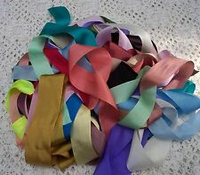 100% PURE SILK RIBBON ~12 yd ~ MULTI COLOR ASSORTMENT