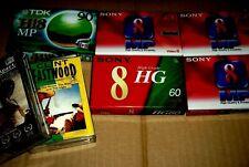 Video8 8mm VIDEO CAMCORDER TAPE CASSETTE Sony High Grade Standard TDK Hi8 Lot 5