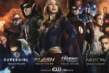 CW TV Promo DC Comic Poster Supergirl Flash Green Arrow Firestorm Black Canary