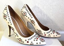 """Isabel Marant """"Clemence"""" Studded Heel in white size 40"""