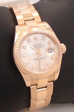 ROLEX President 179175 18K Rose Gold Factory Diamond Dial Ladies BOX/PAPERS MINT