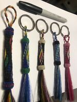 Hand Hitched In Montana State Prison Horse Hair Keychain Group Of 5