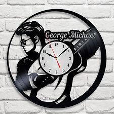 George Michael design vinyl record wall clock home art bedroom playroom music 1