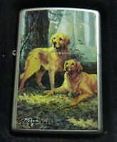 ZIPPO 24413 TWO GOLDENS LINDA PICKEN ACCENDINO LIGHTER Limited Edition cani Z1