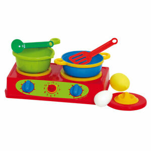 Gowi Toys Pretend Play Double Stove Pretend Roleplay Kitchen Accessories