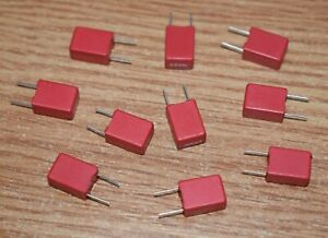 10 PIECES WIMA MKS2 1uF 63v 10%  POLYESTER CAPACITOR