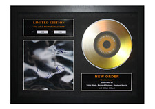 More details for new order gold disc album ltd edition framed picture memorabilia