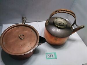 Vintage Copper Kettle Tea Pot