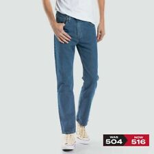 Levis 504 Slim Fit Straight Jean (516) - RRP 99.99 - FREE POSTAGE - STONEWASH