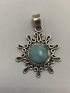 Larimar Pendant - 925 Sterling Silver