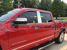 14-18 Chevy Silverado/Sierran Crew Cab Chrome Pillar Post+Window Sill Trim Combo