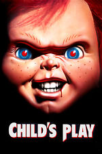 """Child's Play Horror Silk Fabric Movie Poster 24""""x36""""  New"""