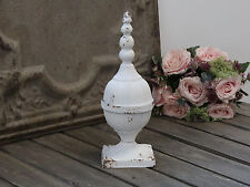 Chic Antique*Shabby Chic*Weiß Garten* Dekoelement*Metall* Landhaus Brocante 32cm