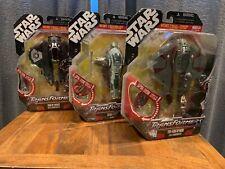 Star Wars Transformers; Lot of 3 figures - Boba Fett, Darth Vader, and Obi Wan