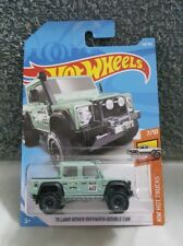 Hotwheels '15 Land Rover Defender Double Cab (Army Green) *Jeep *4WD not skyline