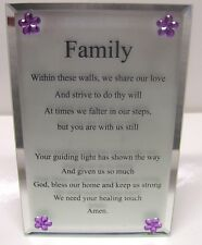"Family   Mirror Glass Plaque ""NEW"""