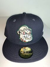 Men's New Era MILB Mahoning Valley Scrappers Navy Blue Fitted Cap Hat NWT 7 1/8