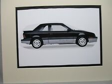 1989 Shelby CSX   Artist art Auto Museum Full color  Illustrated