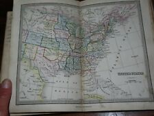1860 WYLD'S GENERAL ATLAS 20 DOUBLE PAGE COL MAPS + MANUSCRIPT ON REVERSE WYLD *