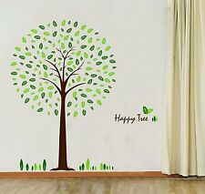 Hunnt Happy Tree Wall Sticker Decal Ideal for Kids Room Baby Nursery Living Room