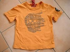 (C223) Cooles RARE -The Kid Boys used look T-Shirt Logo Druck & Aufnäher gr.116