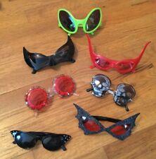 7 Pair Novelty Halloween Photo Booth Dress Up Eyeglasses