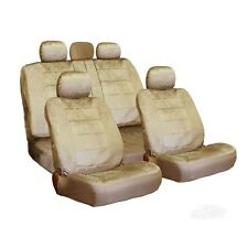 PREMIUM GRADE BEIGE VELOUR FABRIC CAR SEAT COVERS SET FOR SUBARU