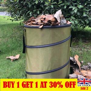 Pop Up Garden Bin Sack Bag Bin Leaves Grass Clippings Folding Refuse 37 Litre LT