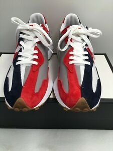 New Balance 327 MS327RP Red Navy White Grey Gum Sneaker Mens Size 10.5 D Classic