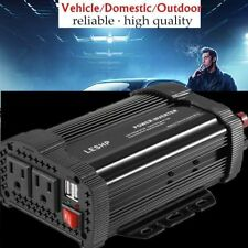 Pro 1000W Car Power Inverter Dc 12V To Ac 110V Charger Converter Usb Port Clip