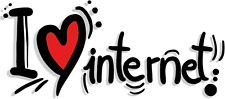 "I Love Internet Funny Heart Slogan Car Bumper Sticker Decal 6"" x 3"""