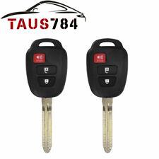 2 For 2013 2014 2015 2016 2017 Toyota RAV4 Remote Car Keyless Entry Key Fob