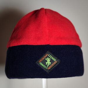 Beanie Fleece Outdoor & Ski Hat Unisex by Original Lizard Red & Navy