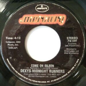 DEXYS MIDNIGHT RUNNERS:  COME ON EILEEN / LET'S MAKE THIS PRECIOUS:  NEAR MINT