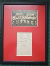"""1937-38 Sheffield United Firmato montato Album pagina/Foto in Cornice 17"""" x 13"""""""