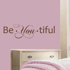 Inspired Wall Decal Be You Tiful Beautiful Quote Vinyl Girl Kid Room Mural Decor