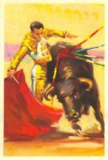ANTIGUA POSTAL TOROS TAUROMAQUIA TORERO DERECHAZO BULLS POSTCARD         TC10857