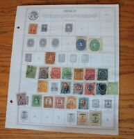 B04 Lot of Mexico Stamps on 5 Minkus binder Pages