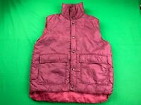 VINTAGE SEARS OUTERWEAR INSULATED RED PUFFER VEST SIZE LARGE EUC