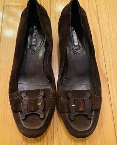 Celine Brown Suede Flats Size 37