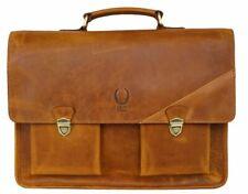 Herren Aktentasche Leder Damen Businesstasche Laptoptasche 15,6 Umhängetasche