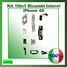 KIT 10 IN 1 CON PARTI INTERNE PER APPLE IPHONE 4S PER RICAMBIO RIPARARE