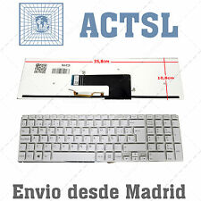 Teclado Español para Sony Vaio Fit15 Backlit White Blanco
