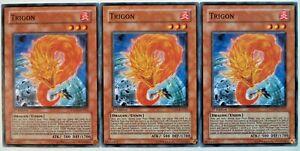 X3 YUGIOH TRIGON TSHD-EN031 1st EDITION COMMON CARDS