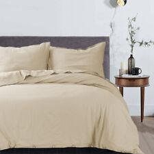 Duvet Comforter Cover w/Buttons Decor&Pillow Shams Bedding Set Twin Queen King